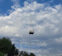 Auslieferung mit Hubschrauber
